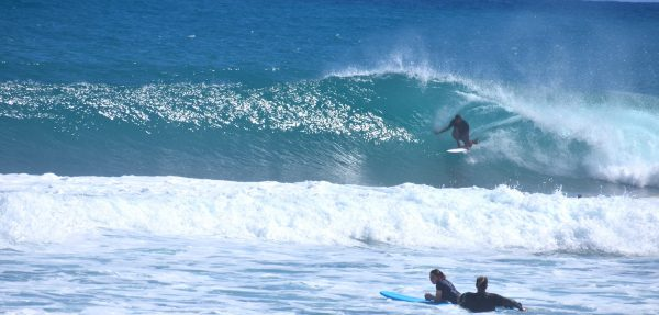 Surf lessons on encuentro beach, Sosua - Cabarete, Dominican Republic